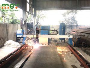 Máy cắt cnc khổ 2,5×6 m, nguồn E130 tại Nam Trực, Nam Định