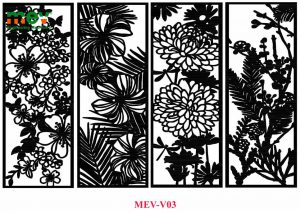 mẫu vách ngăn hoa lá